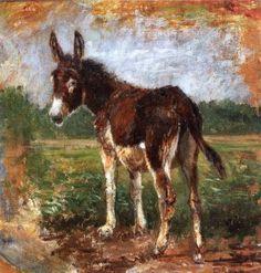 """Filippo Palizzi, """"Asinella"""", olio su tela, cm 32 x 31, #PinacotecaCivica #AscoliPiceno #Marche #Italy"""