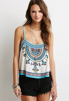 #Southwestern #Print #Cami | Forever 21 - 2000079240