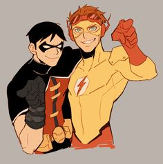 Young Justice: Robin and Kid Flash by: mejik
