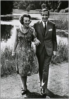 Royal Engagement. The Netherlands. 1965. BEATRIX Y CLAUS. HOLANDA. 1965.