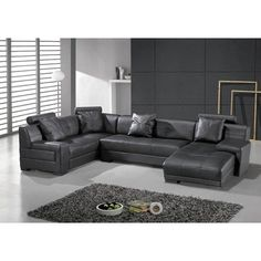 Large Round Curved Sofa Sectional Home Sofas Sectionals - Gray leather sectional sofas