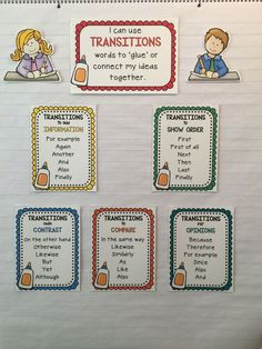 Writing Transitions: Anchor Chart Kit FREEBIE – I love anchor charts, I believe in anchor charts, but I do not like making them because they are never as 'cute' as my fellow-teachers. So I made this great little Anchor Chart Kit for our transition words. I still 'create' the chart with my students – as I stick my pieces onto the chart paper. Wa-La! A beautiful anchor chart!