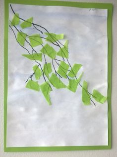 Use tissue to oclude laundry window. And/or paint as the background. Fall Arts And Crafts, Summer Crafts, Preschool Crafts, Fun Crafts, Paper Crafts, Spring Art, Summer Art, Diy For Kids, Crafts For Kids