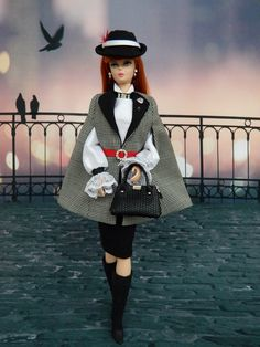 OOAK Winter Romance Fashion for Silkstone Barbie & Fashion Royalty Dolls by Joby Originals