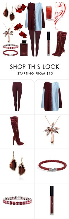 """Maroon & Blue Blackberry Iced Tea Dinner Date"" by moonstarproductionss ❤ liked on Polyvore featuring M&Co, Allurez, Chloe + Isabel, John Hardy, Kevin Jewelers, Huda Beauty and Dolce&Gabbana"