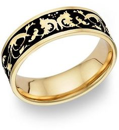 jewelry | 14K Gold Jewelry Antique Celtic Floral Wedding Ring 14 Karat