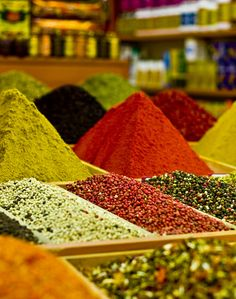 Let's go to Istanbul just to buy spices and nothing else.