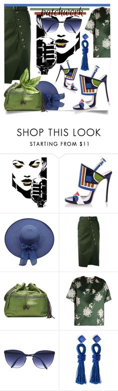 """""""All Patched Up: Patchwork"""" by kari-c ❤ liked on Polyvore featuring Dsquared2, self-portrait, Henry Beguelin, Rochas, Mykita, Lydell NYC and patchwork"""