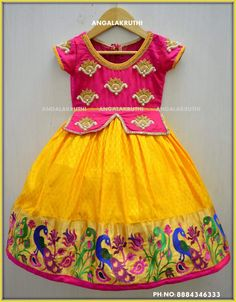 Kids party wear desings by Angalakruthi boutique Bangalore