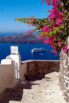 Passageway on Santorini (Greece) ~ BY DAVID KAMM