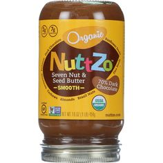 NuttZo Spread - Organic - Seven Nut and Seed Butter - Creamy - Chocolate - 16 oz - case of 6