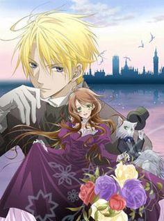 """Hakushaku To Yousei   The story is set in 19th century England and centers on a """"fairy doctor"""" named Lydia. Her life takes a 180-degrees turn when she meets a legendary blue knight count named Edgar and his crew. He hires her as an adviser during his quest to obtain a treasured sword that was supposed to be handed down to him by his family."""