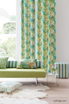 #Gordijnen met Riddim uit de Eijffinger collectie. #curtains #green