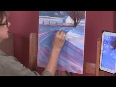 Landscape Painting in Pastel - Snow with Liz Haywood-Sullivan Preview - YouTube