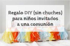 Regalo DIY sin chuches para niños invitados a una comunión u otra celebración / Diy gift for children invited to a celebration (alternative to sweets)