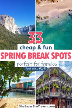 Cheap spring break vacations with kids: 33 awesome destinations you need to see. From beach destinations to National Parks, here are spots from the US, Asia, Europe, the Caribbean and more! Spring Break Destinations Families | Spring Break Vacations with Kids | Spring Break Destinations | Spring Break Ideas | Spring Break Trips