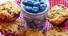 Honey Blueberry Bran Muffins - Low Sodium Blog