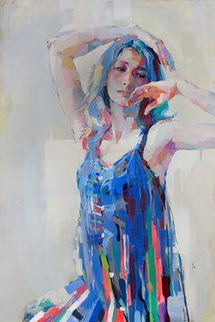 Figurative painting by Izumi Kogahara Figure Painting, Figure Drawing, Painting & Drawing, Abstract Portrait, Portrait Art, Storyboard, Figurative Art, Oeuvre D'art, Painting Inspiration