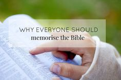 Do you ever wonder why we should bother memorising the Bible? If we don't know it how are we going to use it? Discover how scripture can change your life.