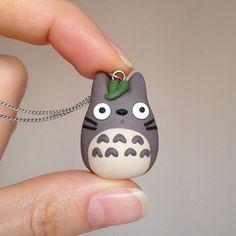 Totoro Necklace Polymer Clay Totoro minimio Necklace by minimio