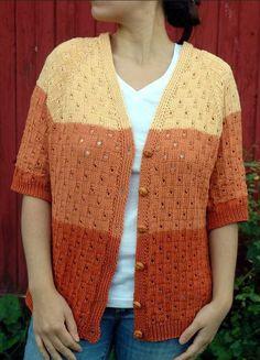 Grand Canyon Cardigan free pattern  raglan sleeves v neck