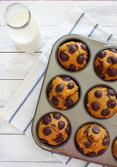 Confession #87: It still feels like summer… Pumpkin Chocolate Chip Muffins