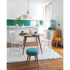 tavolo rotondo vintage per sala da pranzo in massello di quercia d ... - Tavolo Cucina Rotondo
