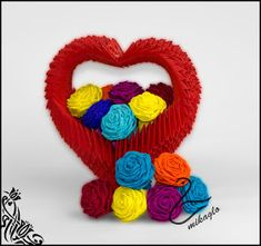2. End. 3d Origami Heart, Perler Beads, Crochet Necklace, Cross Stitch, Jewelry, Crossstitch, Jewlery, Crochet Collar, Jewels
