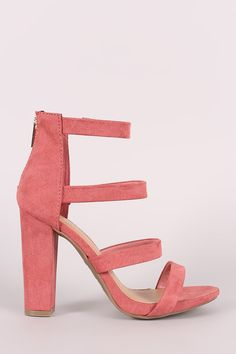 5caeeba39 Bamboo Strappy Suede Ladder-Up Chunky Heel. Fashion ShoesPolyvoreStyleShoppingTiered  ...