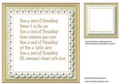 Incert Friend Buff with verse 8x8 on Craftsuprint - Add To Basket!