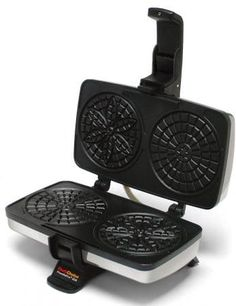 Chef'schoice Pizzellepro 834 Express Electric Pizzelle Maker Black/stainless Steel - Bake an old world favorite right in your own home - and do it faster. The Chef'sChoice PizzellePro bakes two 4 pizzelles in less than 30 seconds. Pizzelle Maker, Pizzelle Cookies, Pizzelle Recipe, Small Kitchen Appliances, Cool Kitchens, Kitchen Gadgets, Baking Appliances, Kitchen Small, Kitchen Tools