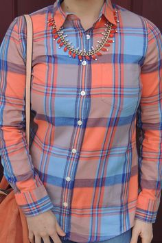 Flannel in bright colors for weekend wear