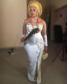 Image may contain: 1 person, standing African Bridesmaid Dresses, Best African Dresses, African Lace Styles, African Wedding Attire, Latest African Fashion Dresses, African Print Dresses, African Weddings, African Clothes, Nigerian Wedding Dresses Traditional