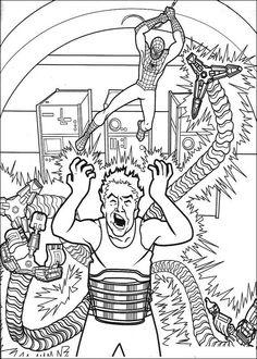 Spiderman Målarbilder för barn. Teckningar online till skriv ut. Nº 25