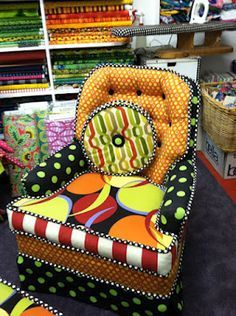 Thanks to the original poster of this fabulous whimsical chair from Tessuti Zoo in Pacific Grove, CA. When near Carmel I must stop in here!