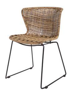 Stuhl mit Kunststoffgeflecht für drinnen und draußen - CAR Möbel 99 €
