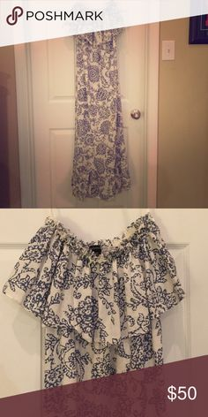 Moda international dress on Victoria's Secret Size small paisley maxi with ruffle detail at chest and bottom Moda International Dresses Maxi