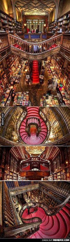 Bookstore Lello! Porto, Portugal. - MemePix