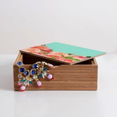Buy a Medium Jewelry Box, get a Small Jewelry Box FREE 12/11/13 only! #handcrafted #madeinamerica Allyson Johnson Sweetest Floral Jewelry Box