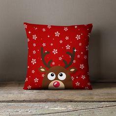 Christmas Gift | Christmas Pillows | Holiday Pillow | Gift for Mom | Reindeer Pillow Case | Reindeer Decor | Reindeer Decoration