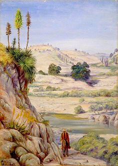 View near Quilpue, Chili Marianne North - circa Marianne North, Kew Gardens, Landscape Art, Chili, Painting, Flora, Art, Painters, Painted Canvas