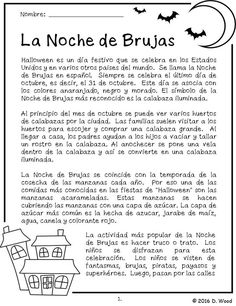 Bilingual Spanish/ English reading on the celebration of Halloween.  It…