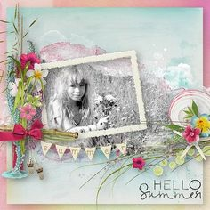 """NEW - June Hatchery - collection """"Hello Summer"""" 8 pack for $ 8 - now on sale 71% off Palvinka Designs @ at the Digichick http://www.thedigichick.com/shop/Palvinka-Designs/ photo mine"""