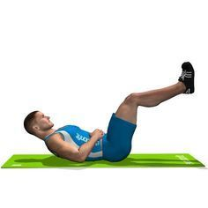 The exercise involves the rectus abdominis and in particular the lower part.
