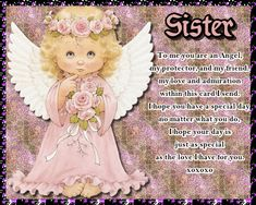 A very sweet card for a sister who is an angel. Free online Sister To Me You Are An Angel ecards on Birthday Birthday Hug, Birthday Wishes Funny, Birthday Songs, Very Happy Birthday, Birthday Sparklers, Sister Cards, Beautiful Birthday Cards, Online Greeting Cards, Cute Teddy Bears