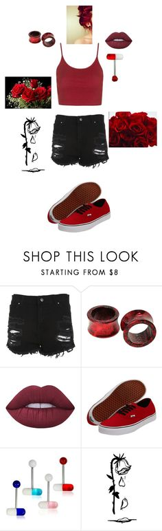 """""""Roses"""" by thatweirdokidd ❤ liked on Polyvore featuring Hot Topic, Lime Crime, Vans and 3 AM Imports"""