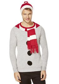 Threadbare Snowman Jumper with Hat