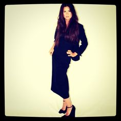 Theory Maxi Dress, Theysken's Theory Platform Pumps, Hugo Boss Blazer, Zara Belt
