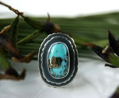 On the Shores of Paradise - Turquoise Sterling Silver Ring