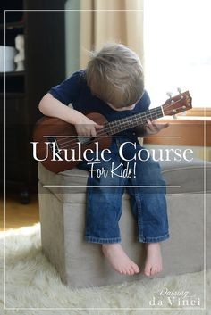 Read about (and enter a giveaway of) the Ukulele Course for Kids from Raising Da Vinci. It's a new course with a book and videos to teach young kids to play